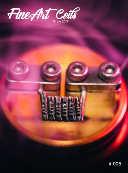 Fineart Coils Half Staggered Fused Clapton #006